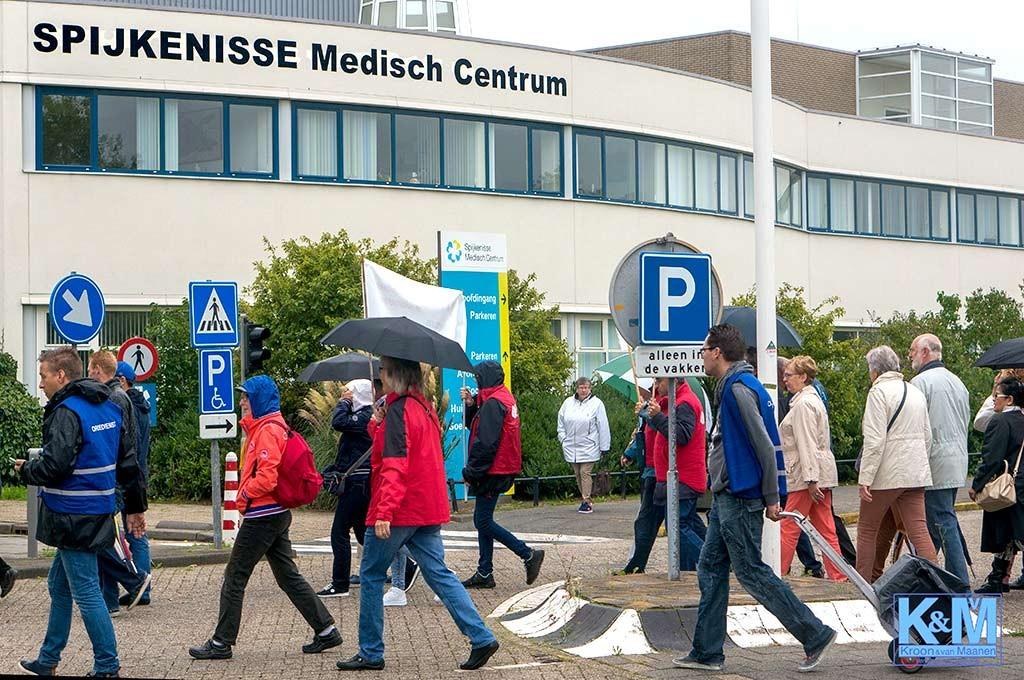Demonstratie bij gesloten ziekenhuis