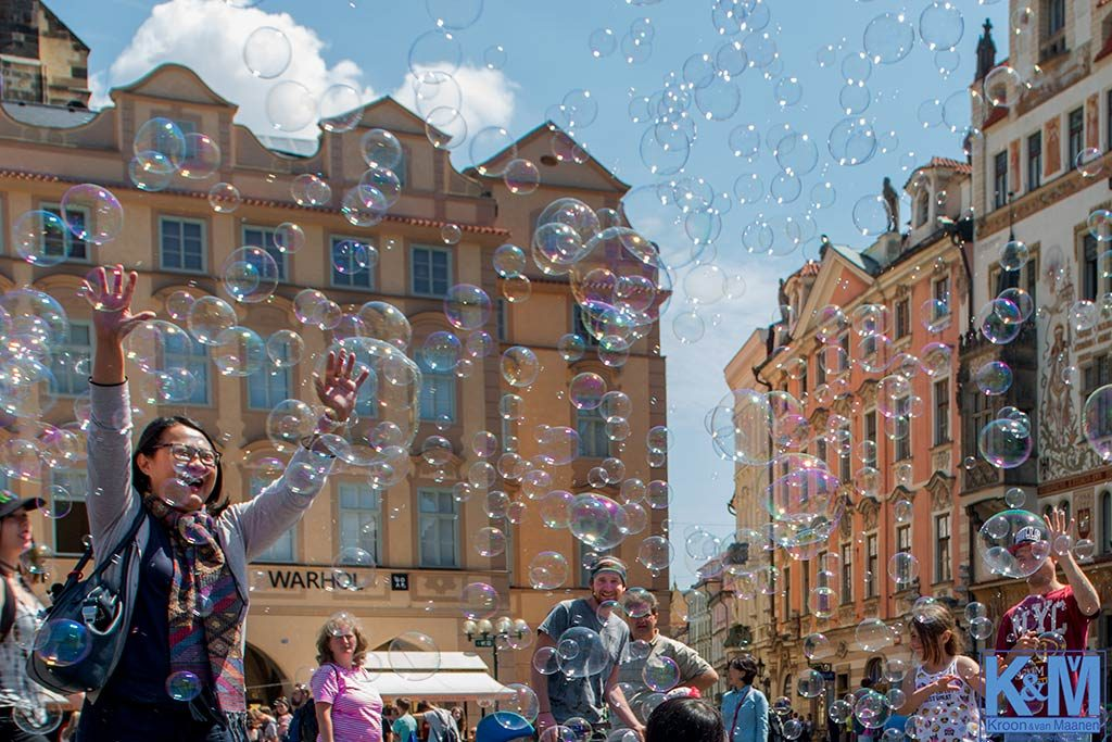 Prague: Blowing bubbles it's the final straw.